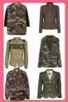 chaquetas militares y camuflaje