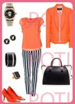 outfit coral diario
