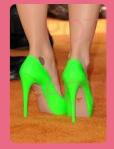 zapatos neon
