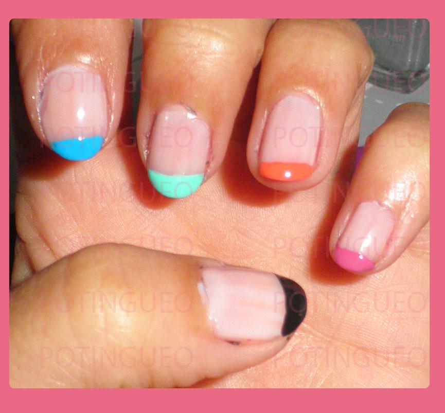 Manicura francesa colores potingueo - Manicura francesa colores ...