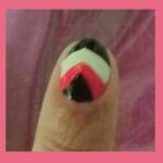 triángulo uñas