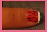 dibujar sandía uñas