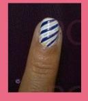 nail art rayas dobles