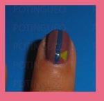 dibujar triángulo uñas