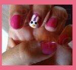 nail art conejo