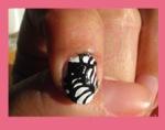 nail art tela araña