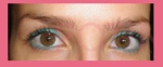 delineado ojos verde