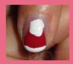 diseño uñas gorro navidad