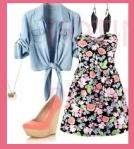 outfit vestido flores