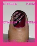 nail art sencillo granate