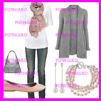 outfit rosa y gris