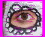 dibujo flor ojo