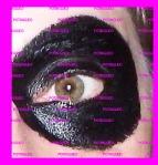 pintar todo el ojo de negro