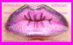 diseño labios rosa y negro