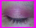 sombra rosa y dorada